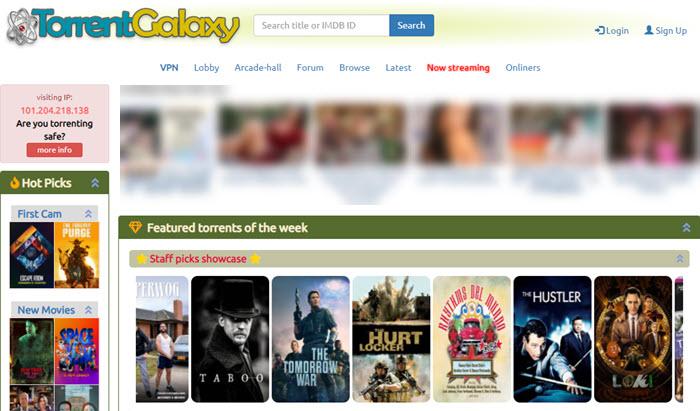 10大种子网站 – TorrentGalaxy