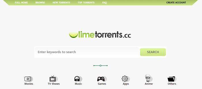 10大种子网站 – LimeTorrents