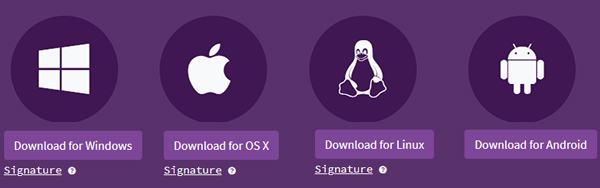 Tor download page