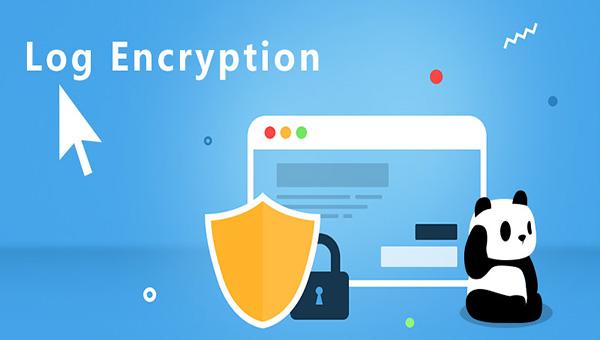 VPN helps you encrypt logs.